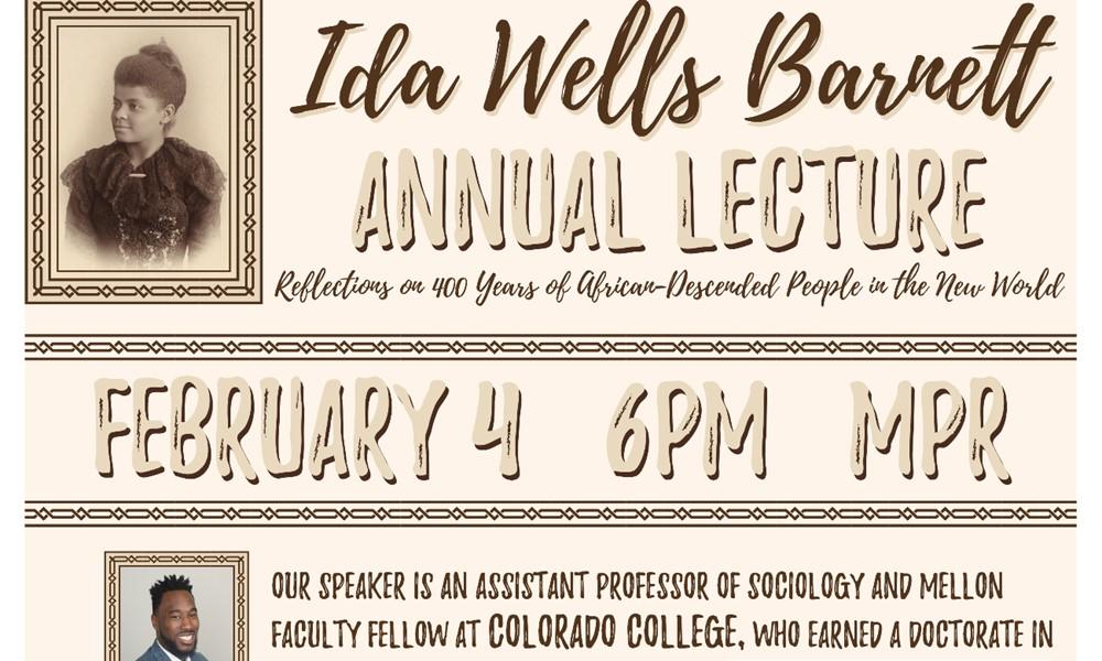 Ida B Wells Lecture flyer